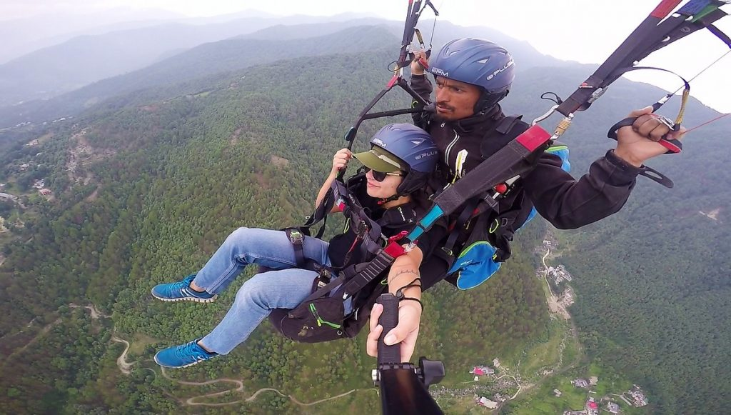 gopro paragliding footage