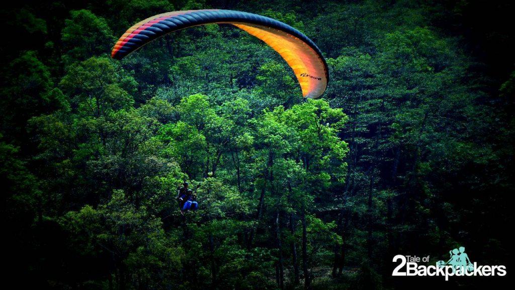 Paragliding at Gangtok-Sikkim