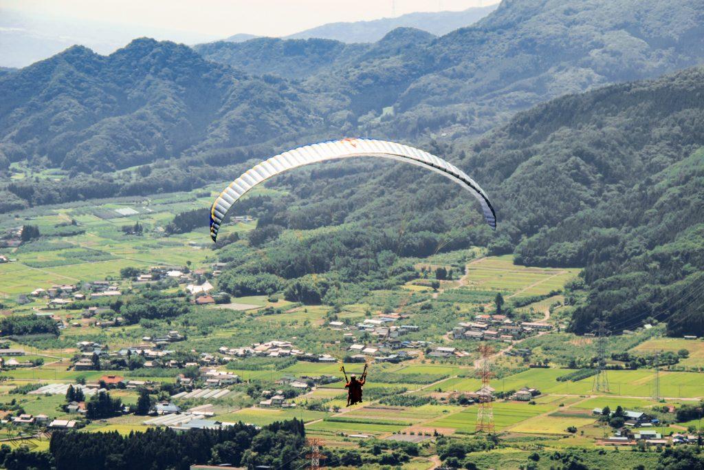 Paragliding japan